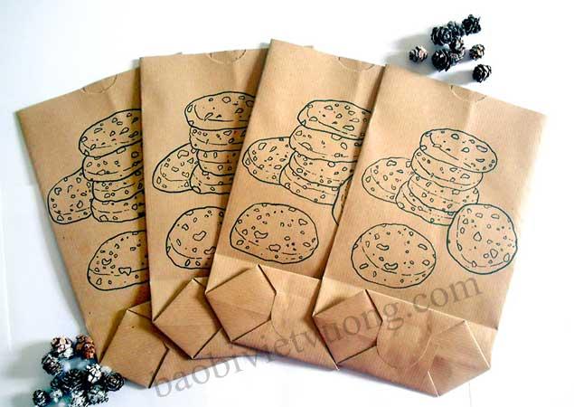 Giấy Kraft là chất liệu được sử dụng nhiều nhất để làm túi thực phẩm.
